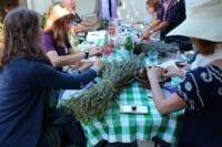 Photo of Atélier Botanique workshop on 9/7/19 with Kate Levine and participants
