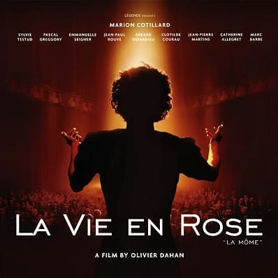Film advertisement for La Vie En Rose movie with Marion Cotillard