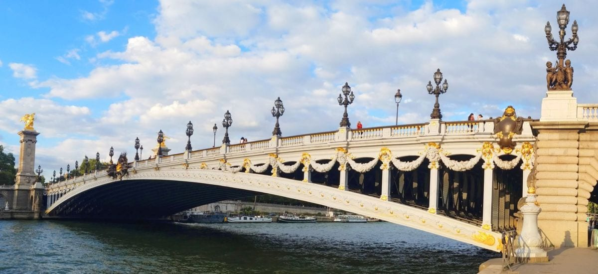 Photo of the Pont Alexandre III bridge in Paris, France